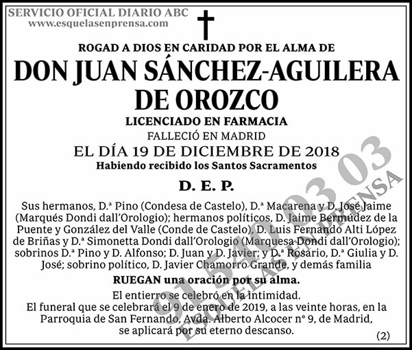 Juan Sánchez-Aguilera de Orozco