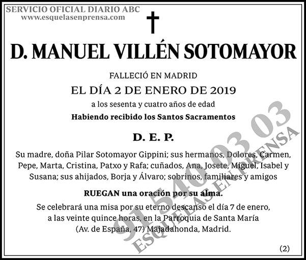 Manuel Villén Sotomayor
