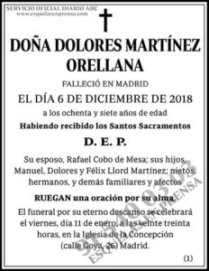 Dolores Martínez Orellana