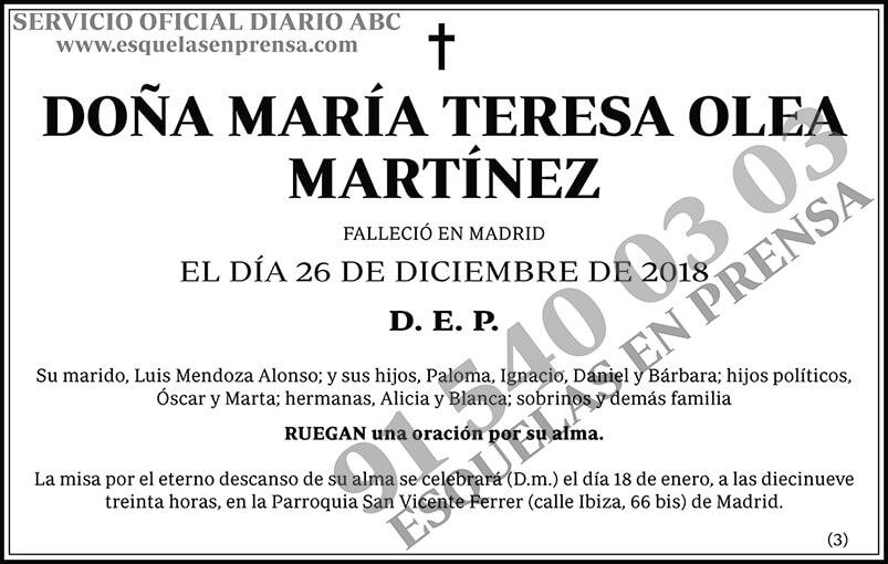 María Teresa Olea Martínez