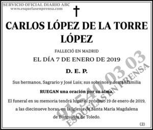 Carlos López de la Torre López
