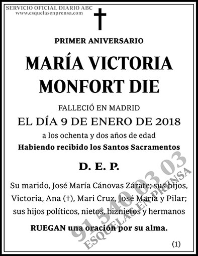 María Victoria Monfort Die
