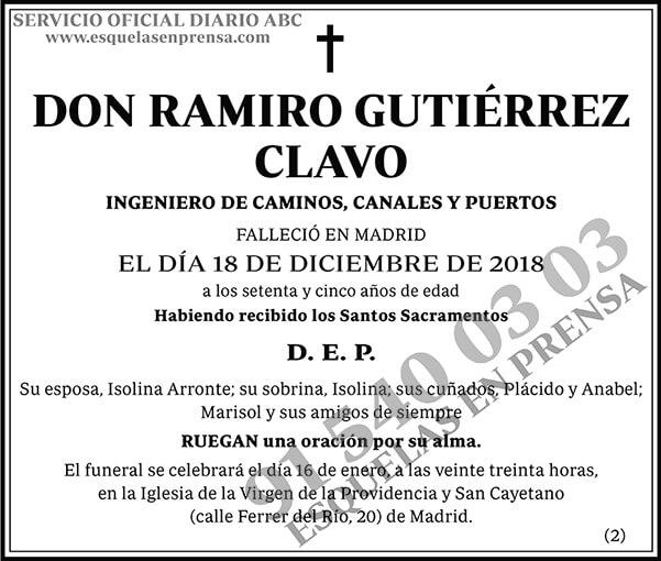 Ramiro Gutiérrez Clavo