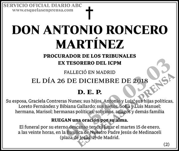 Antonio Roncero Martínez