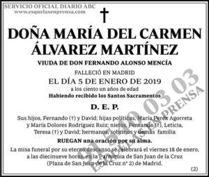 María del Carmen Álvarez Martínez