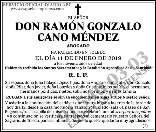Ramón Gonzalo Cano Méndez