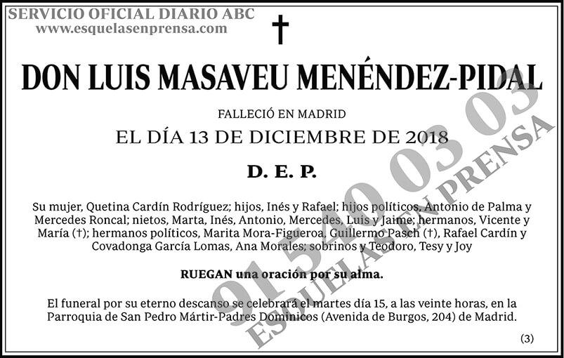 Luis Maseveu Menéndez-Pidal