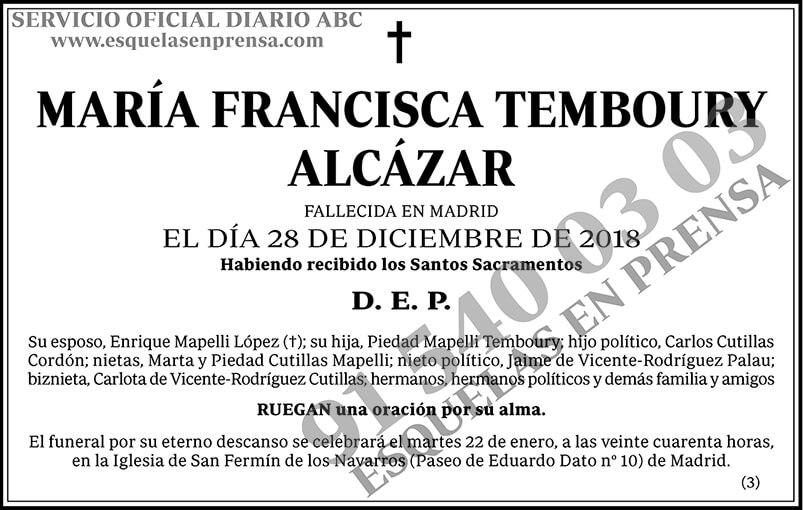 María Francisca Temboury Alcázar