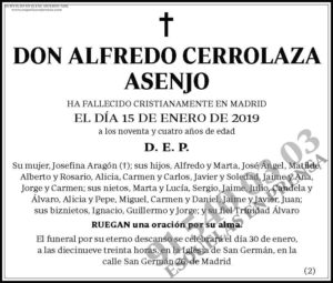 Alfredo Cerrolaza Asenjo