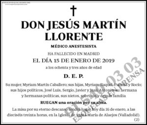 Jesús Martín Llorente