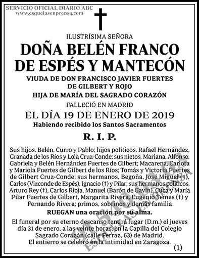 Belén Franco de Espés y Mantecón