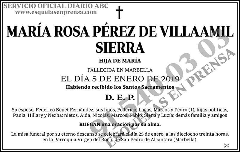 María Rosa Pérez de Villaamil Sierra