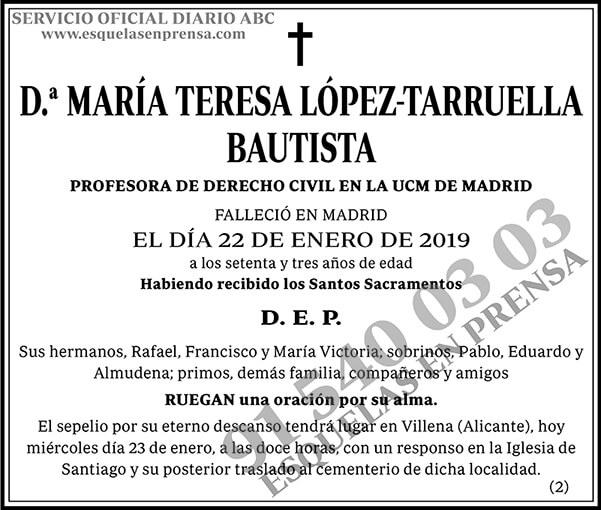 María Teresa López-Tarruella Bautista