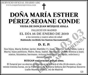 María Esther Pérez-Seoane Conde