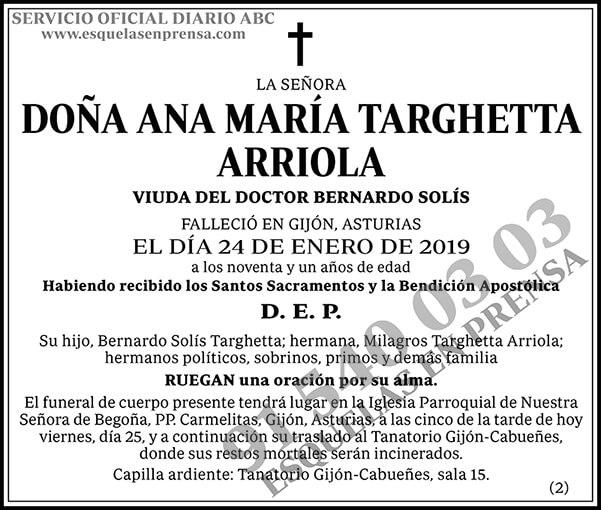 Ana María Targhetta Arriola