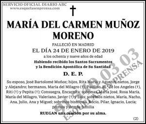 María del Carmen Muñoz Moreno