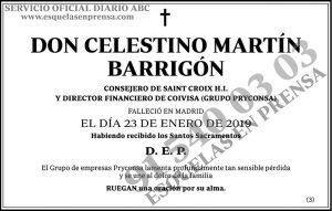 Celestino Martín Barrigón