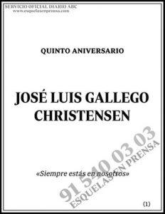 José Luis Gallego Christensen