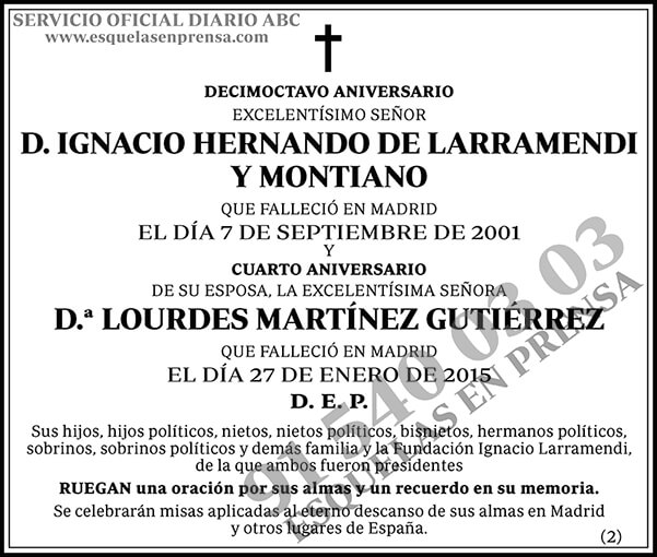 Ignacio Hernando de Larramendi y Montiano