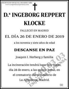 Ingeborg Reppert Klocke