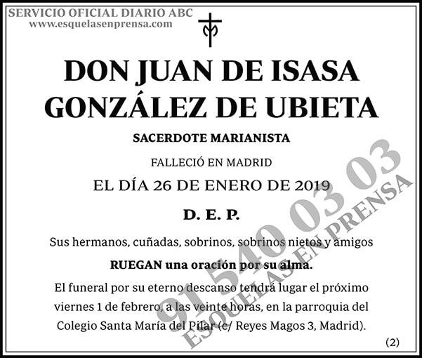 Juan de Isasa González de Ibieta