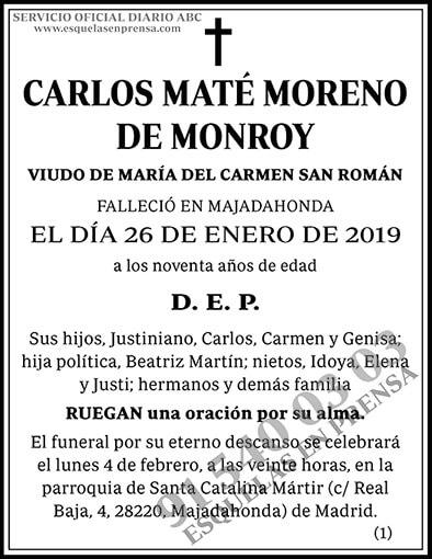 Carlos Maté Moreno de Monroy