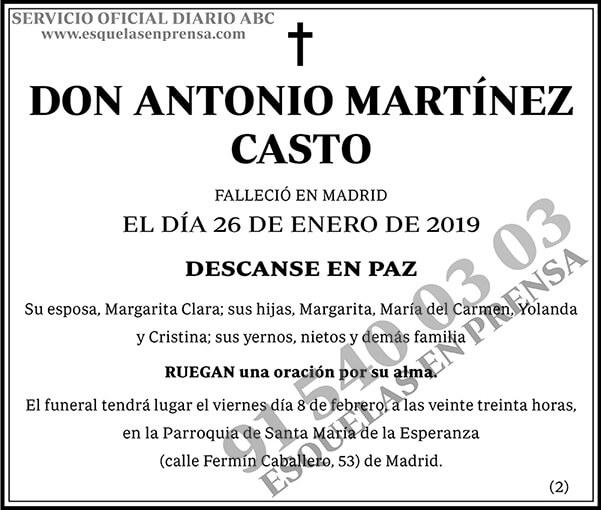 Antonio Martínez Casto