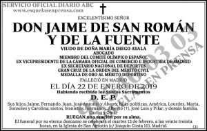 Jaime de San Román y de la Fuente