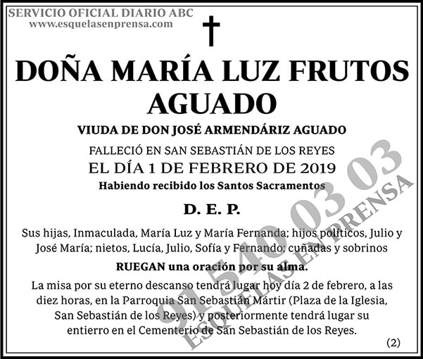 María Luz Frutos Aguado