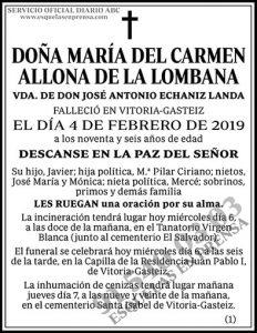 María del Carmen Allona de la Lombana