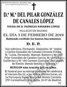 M.ª del Pilar González de Canales López
