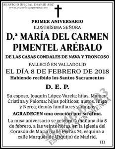 María del Carmen Pimentel Arébalo