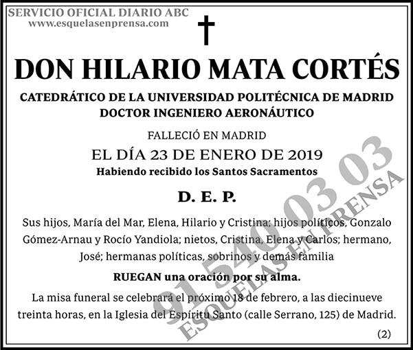 Hilario Mata Cortés