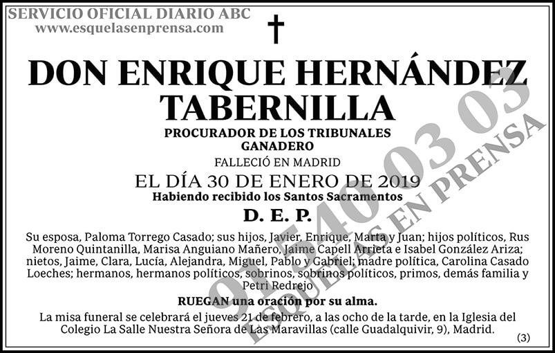 Enrique Hernández Tabernilla