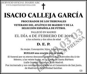 Isacio Calleja García