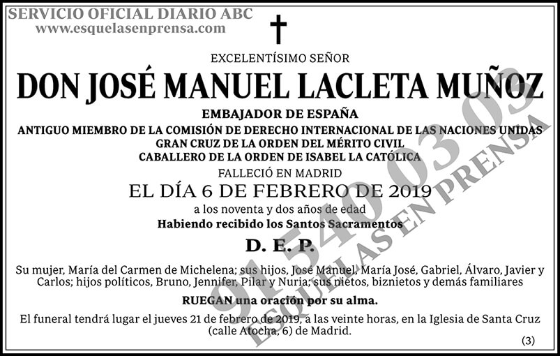José Manuel Lacleta Muñoz