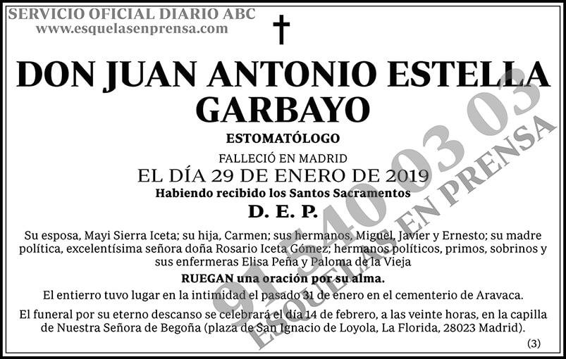 Juan Antonio Estella Garbayo