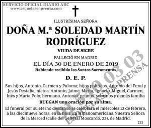 M.ª Soledad Martín Rodríguez