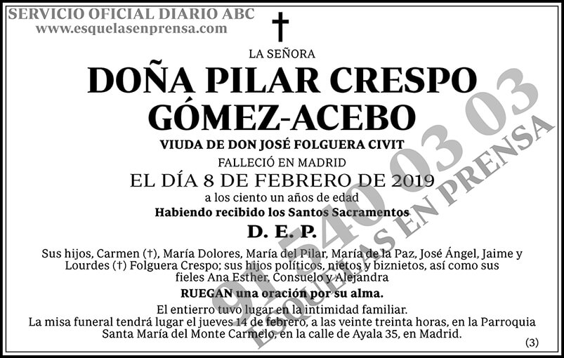 Pilar Crespo Gómez-Acebo