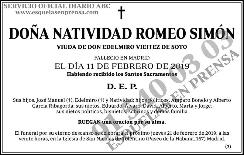 Natividad Romeo Simón