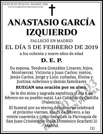 Anastasio García Izquierdo