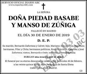 Piedad Basabe y Manso de Zúñiga