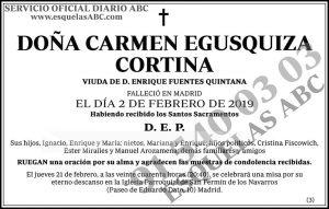 Carmen Egusquiza Cortina