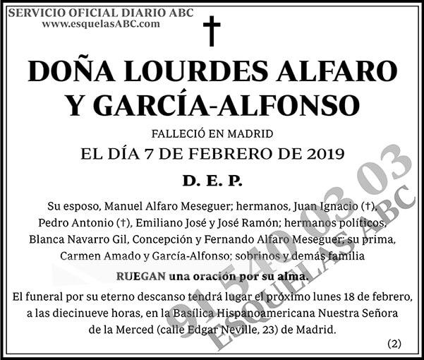 Lourdes Alfaro y García-Alfonso