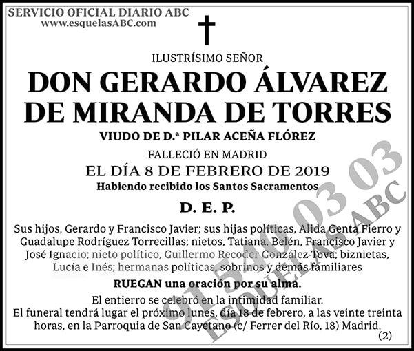 Gerardo Álvarez de Miranda de Torres