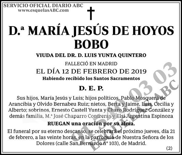 María Jesús de Hoyos Bobo