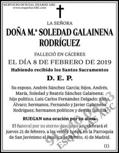 M.ª Soledad Galainena Rodríguez
