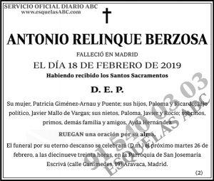 Antonio Relinque Berzosa