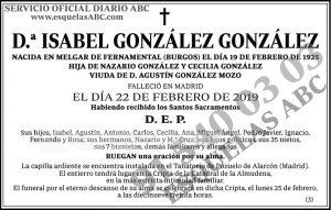 Isabel González González