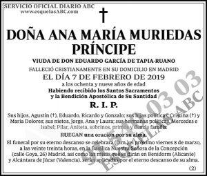 Ana María Muriendas Príncipe